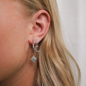 Silberne Ohrringe Fafe Collection Schmuck