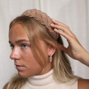 Braided Headband Beige