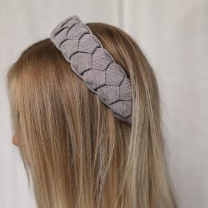 Braided Headband Grey