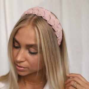 Braided Headband Rose