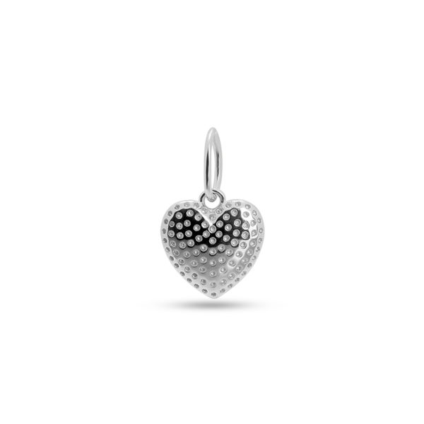 HEART NECKLACE CHARM SILBER
