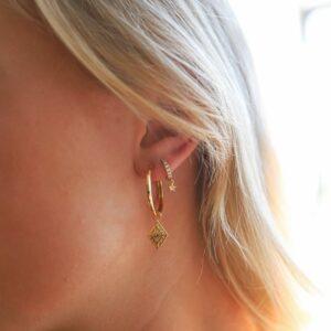 Diamon Earring Charm Tabit Hoops Fafe Collection Online Shop