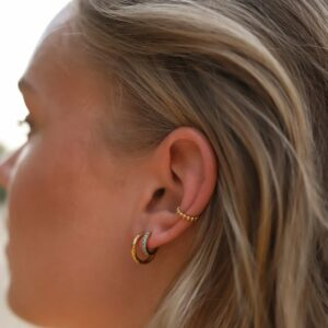 Dots Earcuff Gold Fafe Collection
