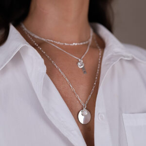 OPEN CHAIN NECKLACE SILBER