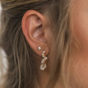 Pearl Studs Gold Fafe Collection