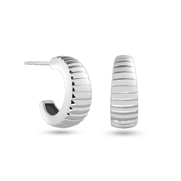 RIPPED HOOPS SILBER