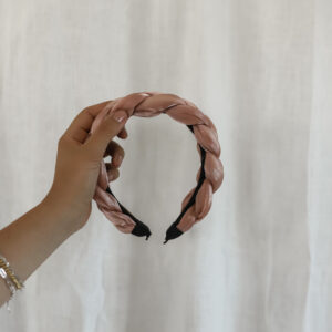 Satin Headband Rose