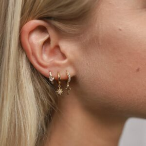 Shiny Cross Hoops Maia Hoops Fafe Collection