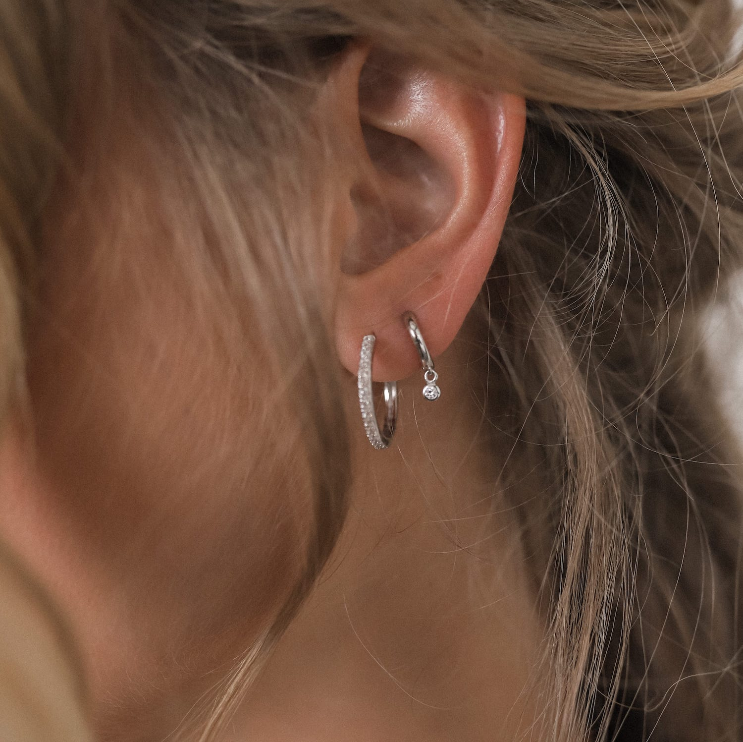 Shiny Hoops Classic Silber Fafe Collection