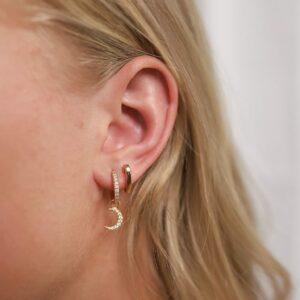 Shiny Luna Earring Charm Fafe Collection Schmuck