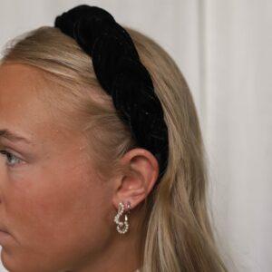 Velvet Braided Headband Black Fafe Collection