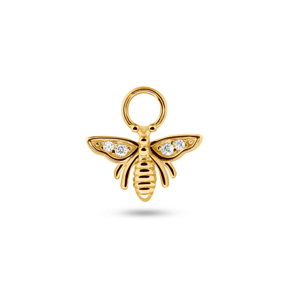 Honey Bee Earring Charm Gold Fafe Collection Online Shop