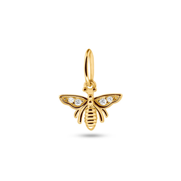 Honey Bee Necklace Charm Gold Fafe Collection Online Shop