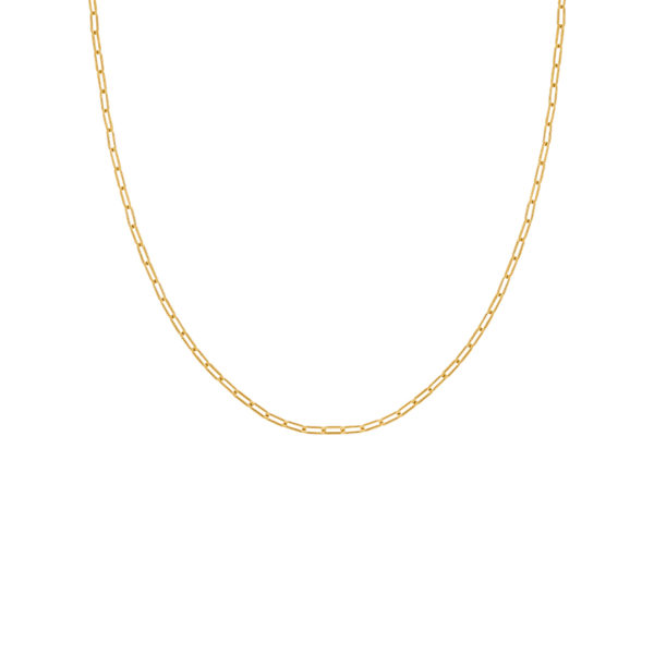 Open Chain Basic Necklace Gold 1 fafe Collection
