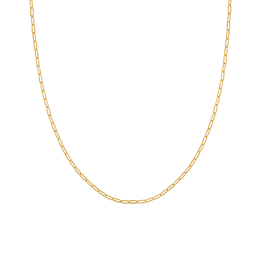 Open Chain Necklace Gold 1