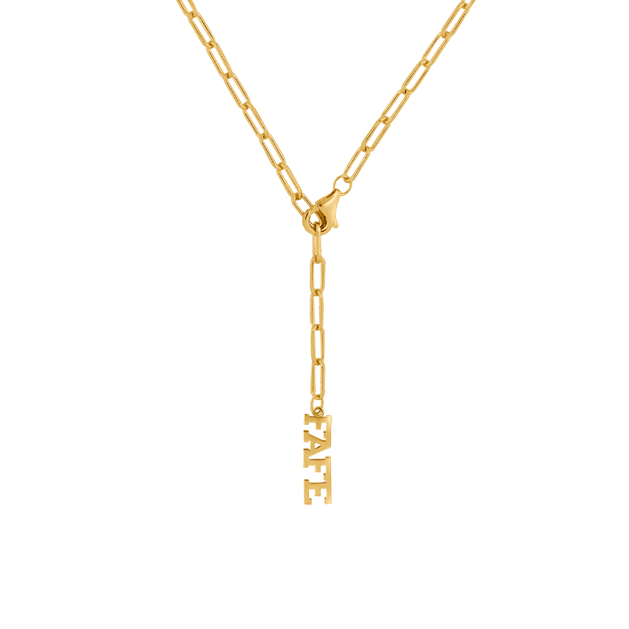 Open Chain Necklace Gold 2