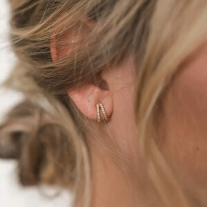 Shiny Valentine Earrings Gold Fafe Collection