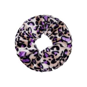 Velvet Scrunchie Purple Leo Fafe Collection Onlineshop
