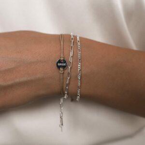 Wedding Bracelet Bride Beige- Silber