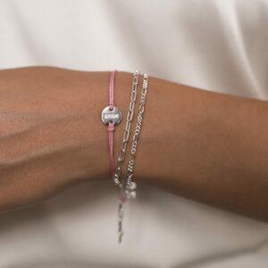 Wedding Bracelet Bride Silber Rosa