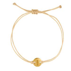 Wedding Bracelet Love Beige Gold