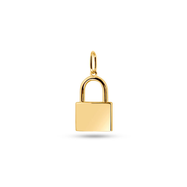Lock Necklace Charm Gold Fafe Collection Onlineshop