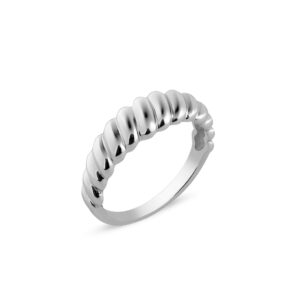 CROISSANT RING SILBER