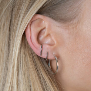 SINGLE ABBY EARRING SILBER