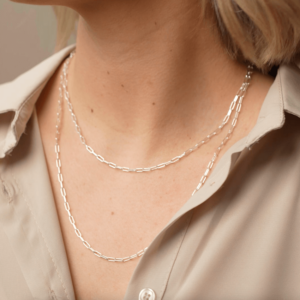 OPEN CHAIN BASIC NECKLACE SILBER