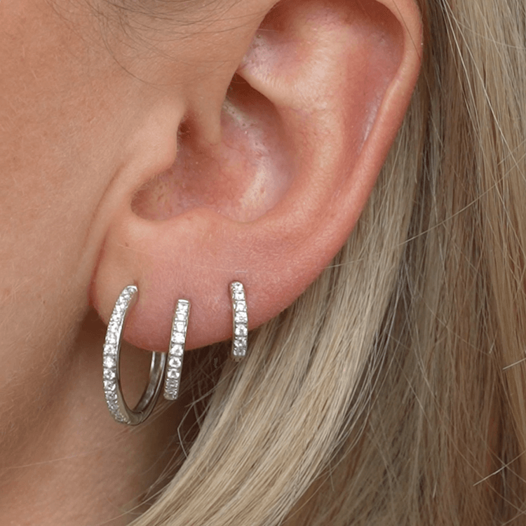 SHINY HOOPS CLASSIC SILBER