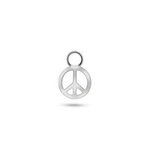 PEACE EARRING CHARM SILBER