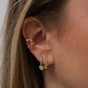 TINY HOOPS SILBER