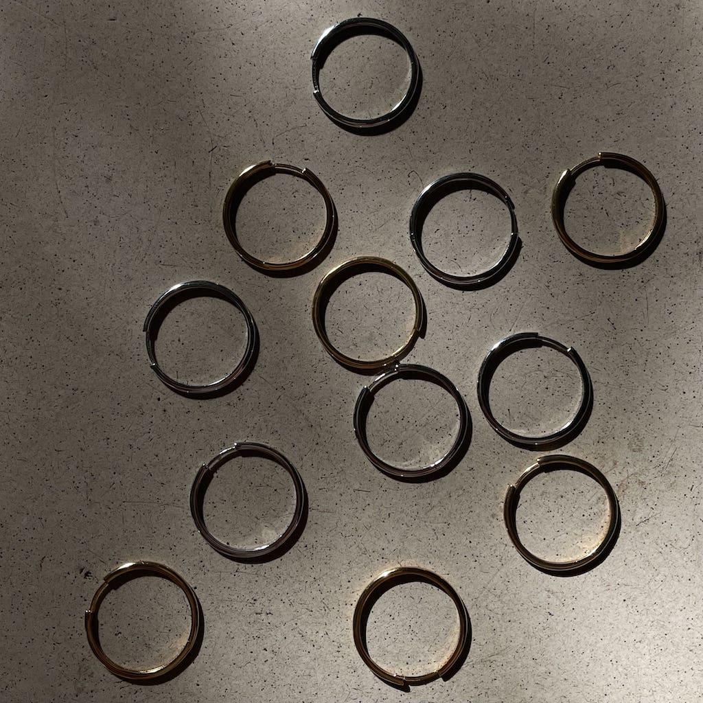 Basic Hoops Maxi Silber